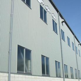 工場兼事務所の外壁板金工事